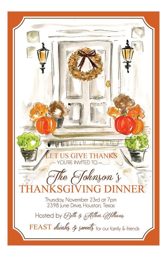 #Thanksgiving Door Invitation | Polka Dot #Fall Party Invitations