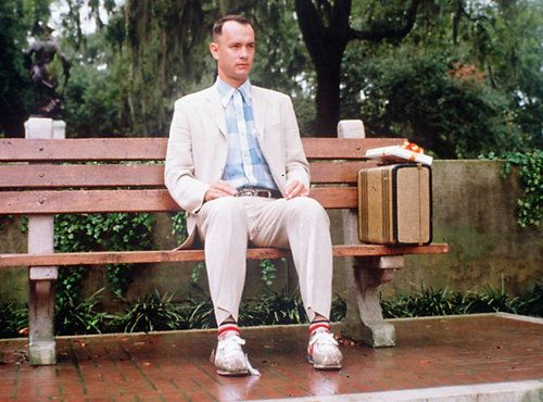 Forest Gump (1994). Famous bench in Chippewa Square in Savannah, GA.  #Savannah #NoBoysAllowed