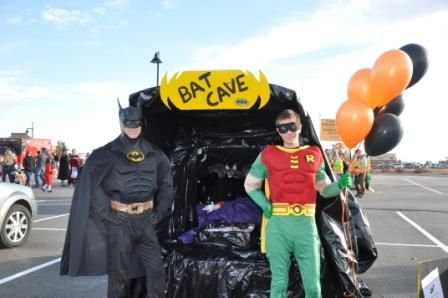 Batman & robin!!!! trunk or treat very cool!