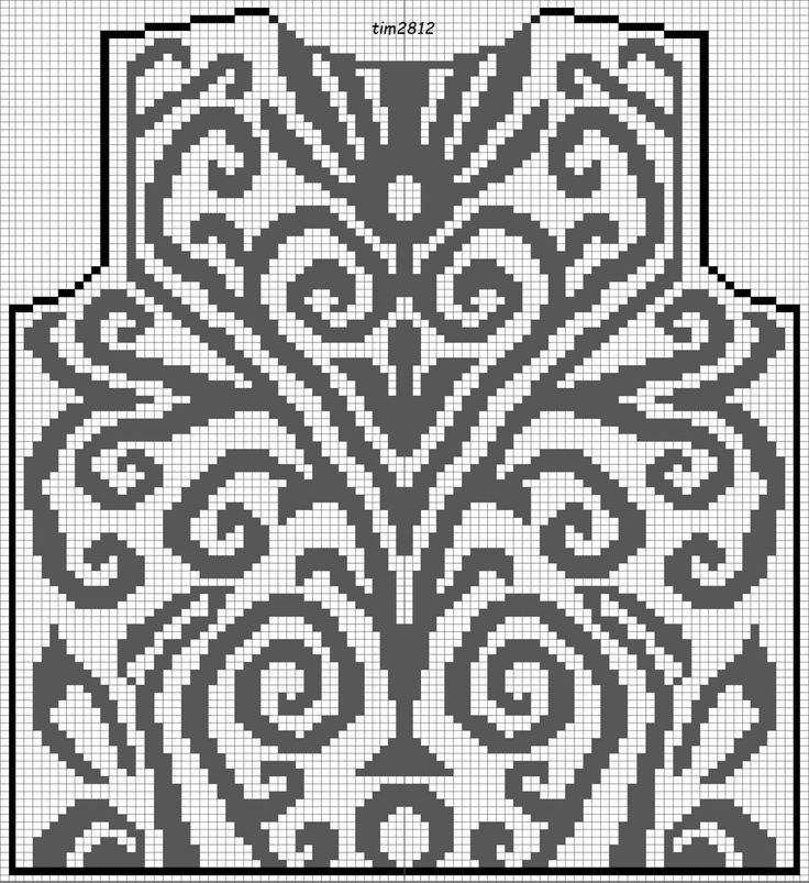 Филейное вязание крючком . — туники , блузки филейным узором со схемами | OK.RU