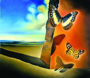Salvador Dali-Landscape with Butterflies