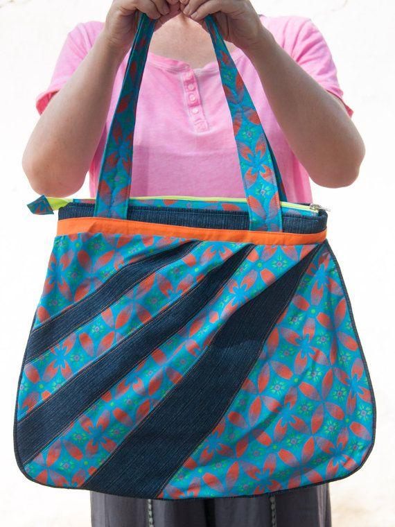 GcobaGcoba hand bag on Etsy shop https://www.etsy.com/listing/230021342/turquoise-orange-and-lime-handbag-made