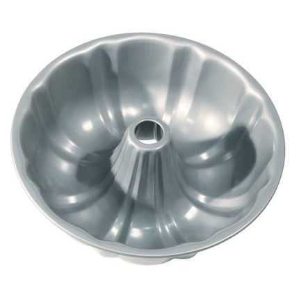 Fox Run 4485 Non Stick Fluted Pan with Center Tube, 8.5, Silver steel