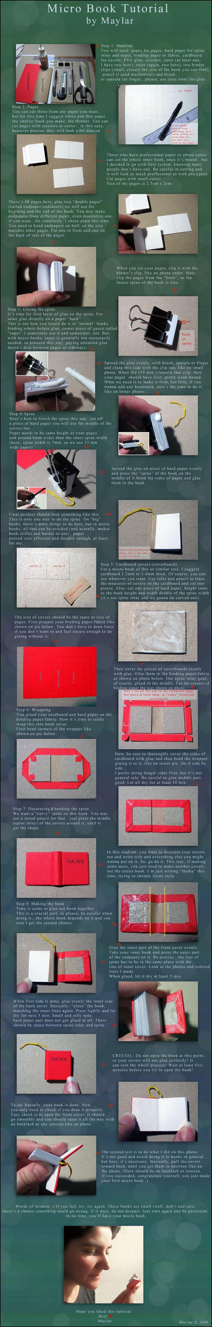 Micro Book Tutorial by ~Maylar on deviantART