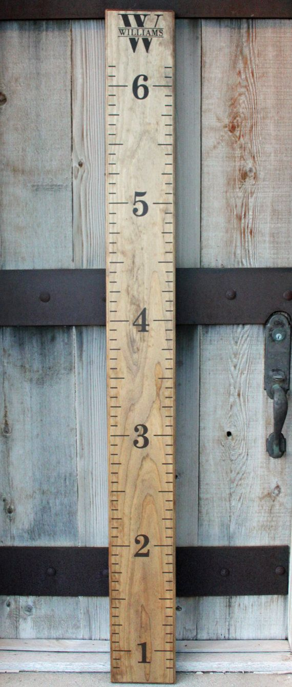 Growth Chart Ruler DIY Vinyl Decal Double by LittleAcornsByRo