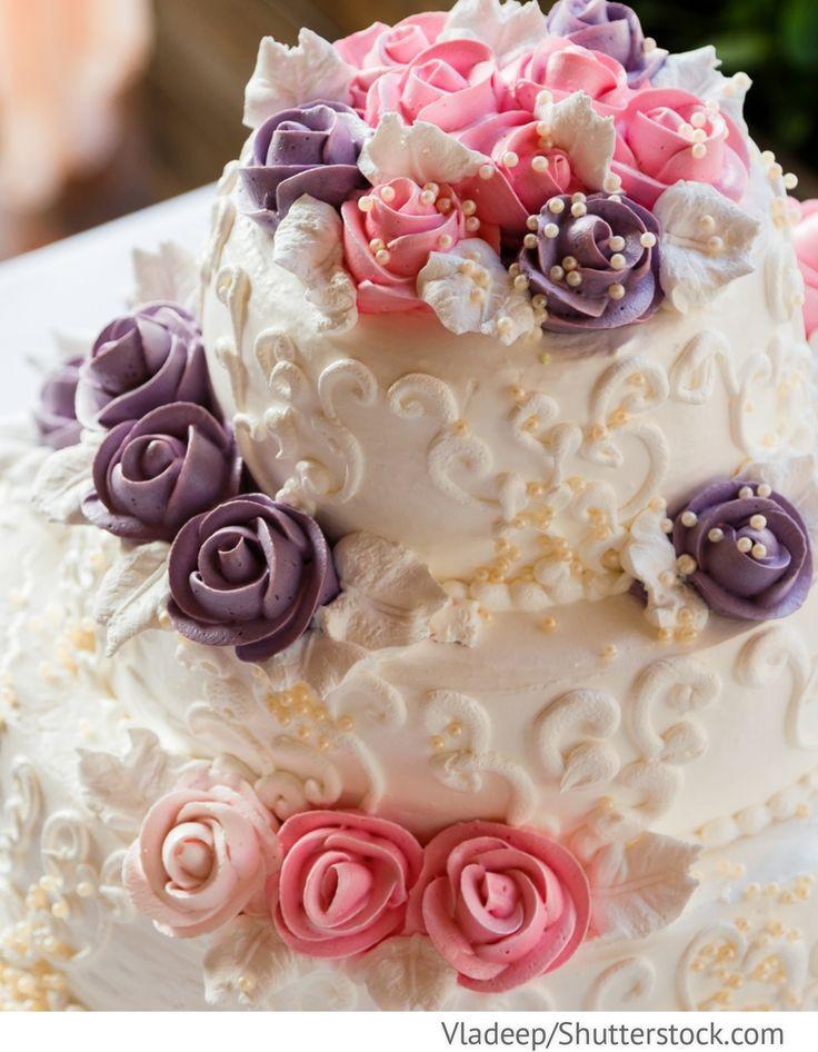 Hochzeitstorte mit Rosen 3 stöckig für Hochzeit