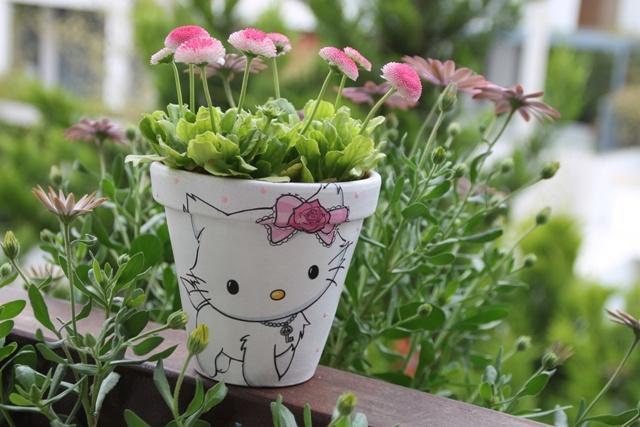 #HelloKitty #pot #handmade #decoupage