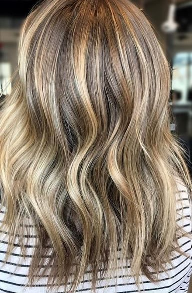 Beige and Blonde Highlights and Lowlights