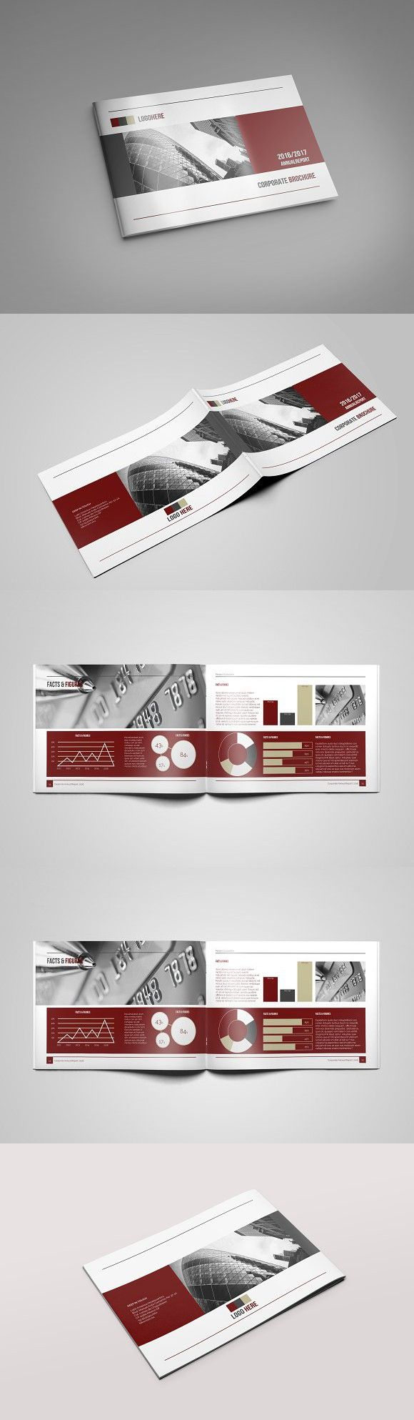 Annual Report A4 Landscape. Infographic Templates. $22.00
