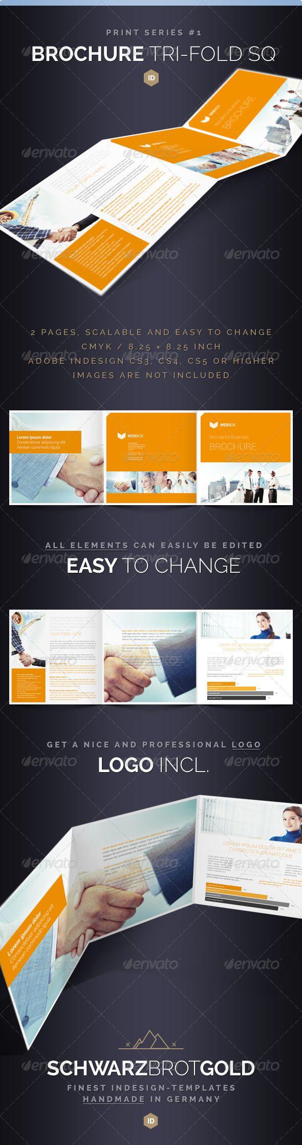 Brochure Tri-Fold Square Series 1  #GraphicRiver