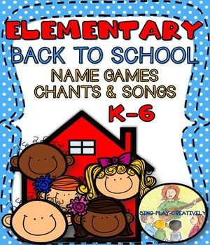 Elementary Classroom Name Game SongsPlay these fun Names games during the first week back to school and for brain breaks all year long.Product Includes 15 Songs and Games in Poster and Mini-Card Size 4 Songs  (with Mp3)11 GamesEach song, chant and game is easy to learn-you can play them with No Prep!***You can print, laminate and place the small cards on a ring and you are set for the whole year with songs and activities that will help you learn names, establish routines and connect with…