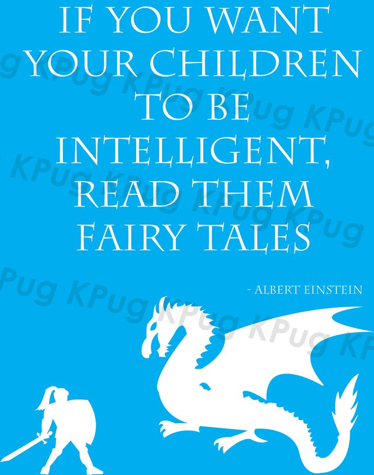 Fairy Tale Nursery Decor featuring Albert Einstein quote 11 x 14. $8.00, via Etsy.