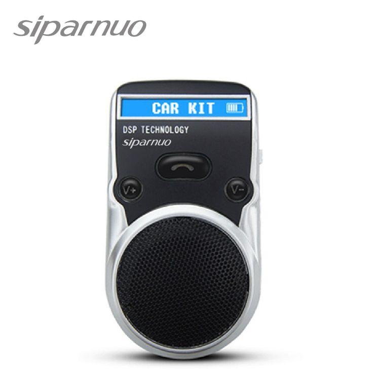 Envío Gratis <font><b>Solar</b></font> Powered Bluetooth Car Kit Pantalla LCD Identificador de Llamadas Manos Libres Altavoz Manos Libres Bluetooth en el Coche