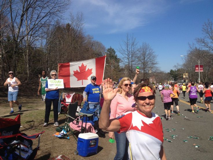 Tons of Canadians on the course chipped in with their love too: