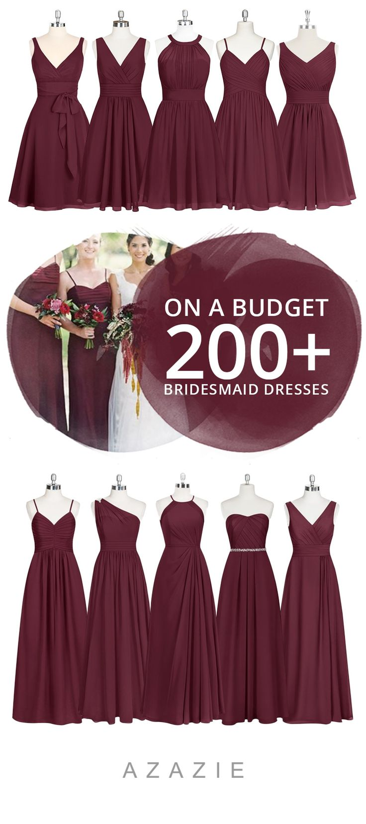 Dress your bridesmaid in our cabernet shade! Available in sizes 0-30 and free custom sizing! Every woman deserves their dream dress, that fits right while still being budget friendly!