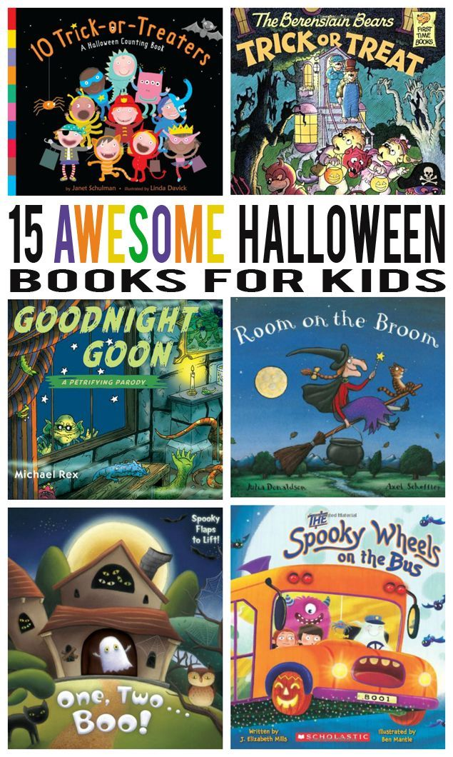 15 Awesome Halloween Books for Kids: http://eighteen25.com/2015/10/15-awesome-halloween-books-for-kids/