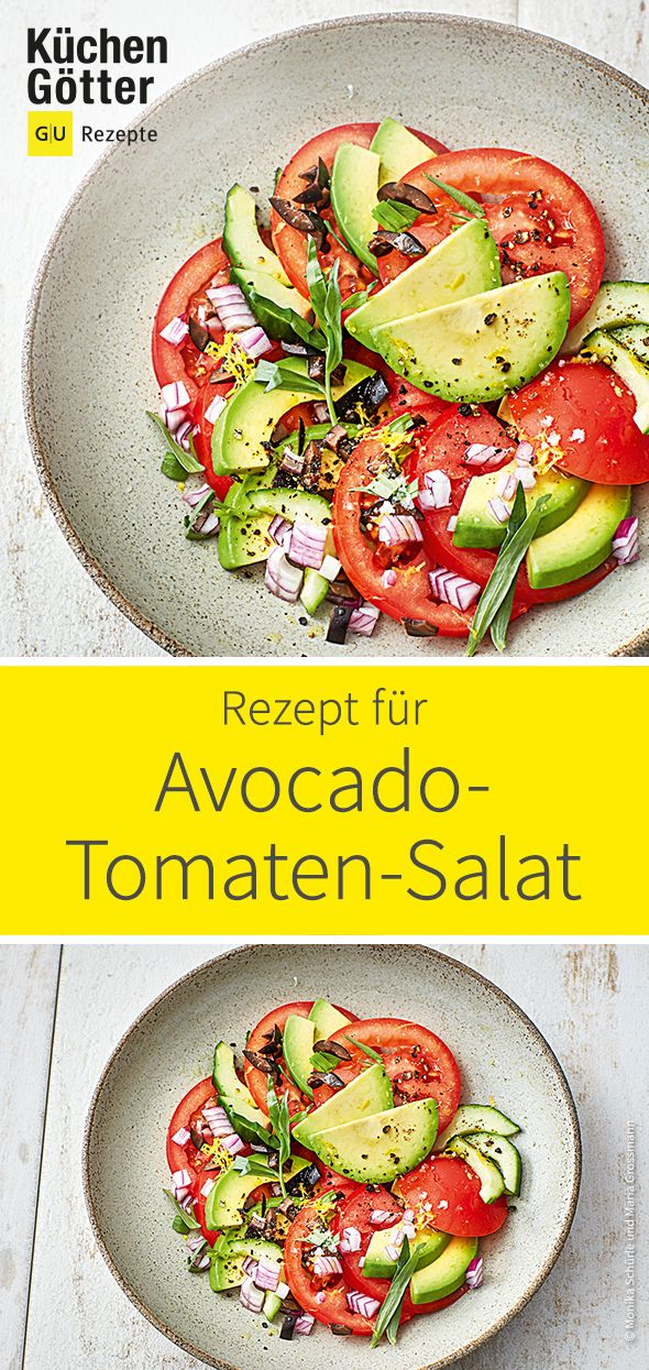 Tomato and avocado salad  – Salat-Rezeptideen