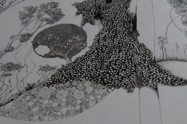 Black and White Forrest #6 by Katrine Holger Hauerslev Rosten