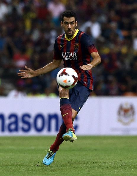 Sergio Busquets of Barcelona FC in action during the friendly match between FC Barcelona and Malaysia at Shah Alam Stadium on August 10, 2013 in Kuala Lumpur, Malaysia.