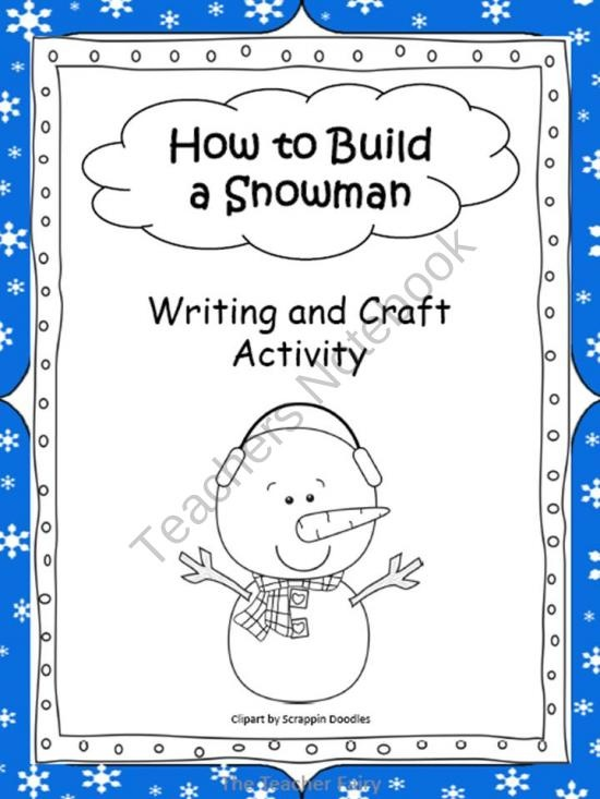 How to build a snowman product from the teacher fairy on for How to create a snowman