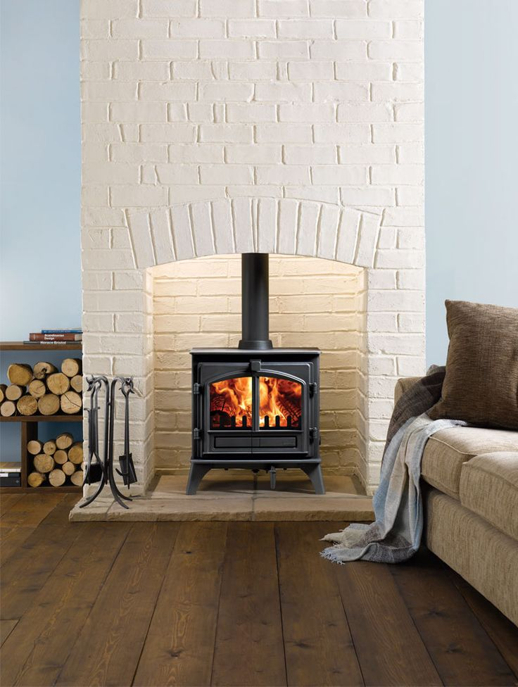 The Stovax Riva™ Plus Medium is a versatile wood burning and multi-fuel stove, ideal for medium to larger sized rooms. The Riva™ Plus Medium stove is avail