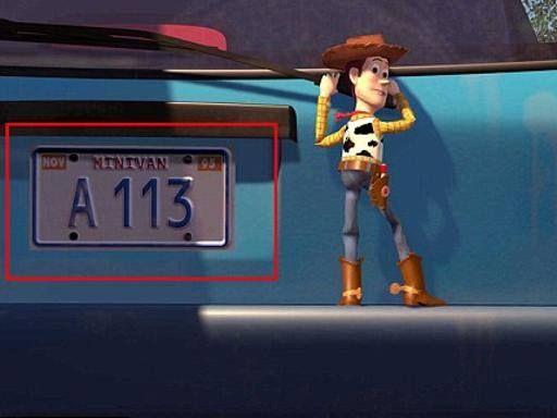 Il mistero dell'«A113», il codice nascosto in tutti i film Pixar (e non solo). Si tratta della classe «A113» del California Institute of the Arts (CalArts), frequentato da un'intera generazione di animatori e graphic designer. La prima volta del codice risale al 1987. Il regista de «Gli Incredibili» e «Ratatouille», Brad Bird, l'aveva inserita sulla targa di una macchina in un episodio della serie televisiva «Storie incredibili»