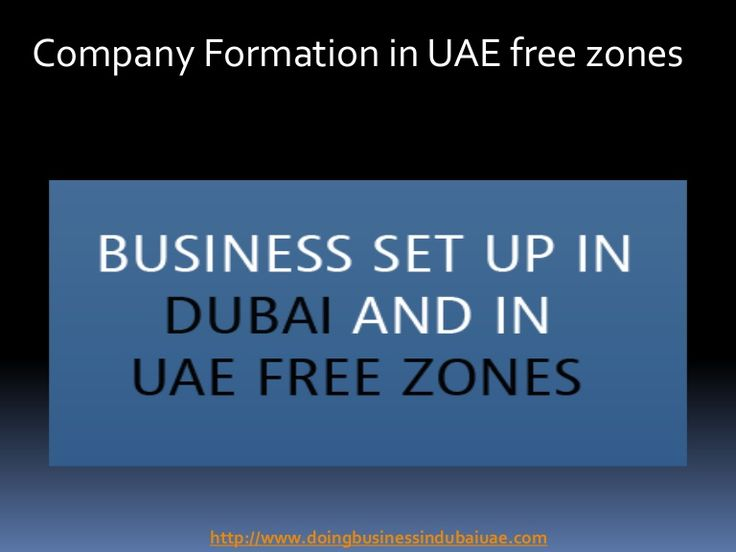 Company Formation in UAE Free Zones - Jitendra Business Consultants