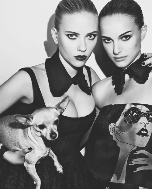 Scarlett & Natalie: Marching 2008, Natalie Portman, Steven Klein, Natalieportman, Red Lips, Scarlettjohansson, Scarlett Johansson Brunettes, W Magazines, Magazines Covers