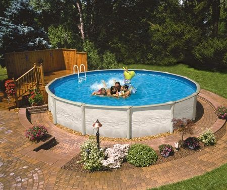 95 best above ground pool landscaping images on pinterest - Above ground swimming pools reviews ...