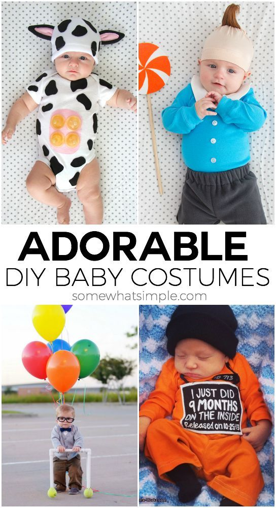 10 DIY Baby Costumes for Halloween @somewhatsimple #halloween