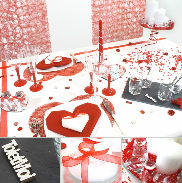 17 best images about saint valentin on pinterest for Table romantique