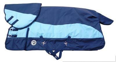 En plein air Cheval Tissu Course D'hiver Imperméable à L'eau Chaud Cheval Tapis Bleu Amovible Cheval Harnais