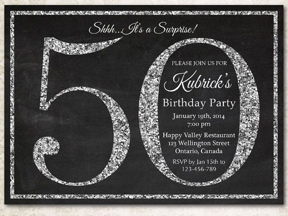 Best 20+ 50th birthday invitations ideas on Pinterest | Surprise ...