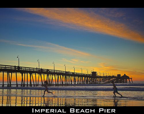 You stay classy, San Diego! Sunset at the Imperial Beach Pier