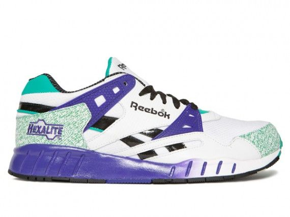 quality design 3bb7b 95c3e ... Reebok Hexalite - White - Purple - SneakerNews.com .