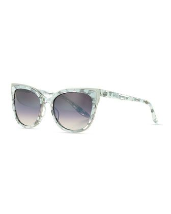 Winette+Gradient+Cat-Eye+Sunglasses,+White+by+Barton+Perreira+at+Neiman+Marcus.