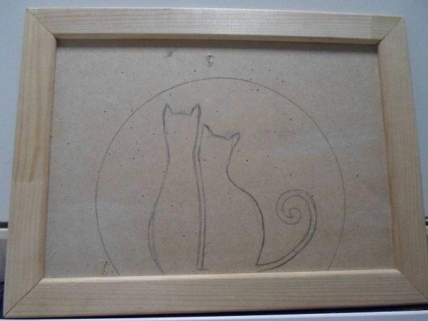 панно из фасоли коты (3)