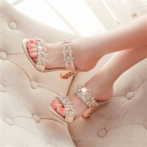 Rhinestone Ladies Sandals-Sandals-Tac City Goods Co. https://www.taccitygoods.com/products/rhinestone-ladies-sandals