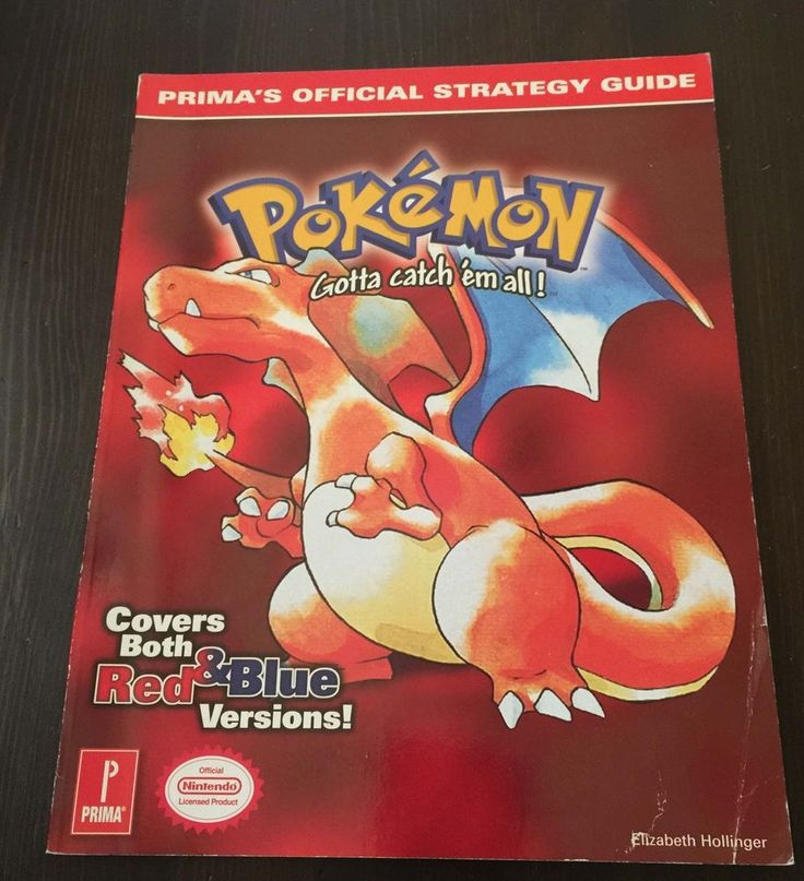 Pokemon Red Blue GameBoy Primas Official Strategy Guide Players Hint CHARIZARD