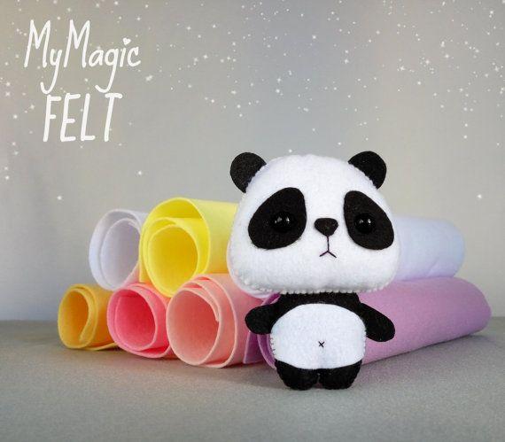 Decoraciones infantiles Panda ornamento decoración Woodland fieltro adornos de panda lindo sentir ducha de regalo animalitos