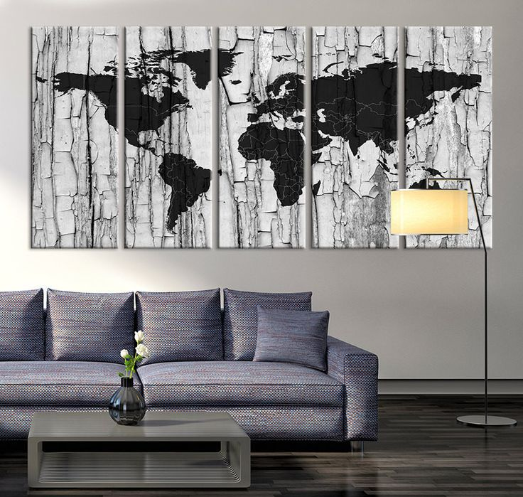 Large Canvas Print Black and White