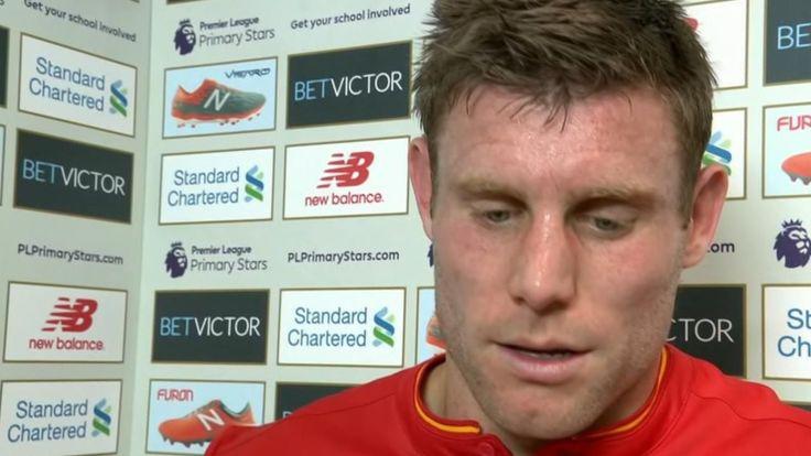 James Milner takes blame for Liverpool draw
