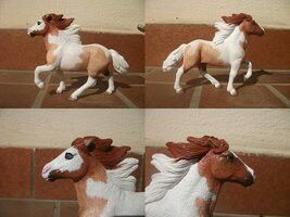 Customized Schleich horses.