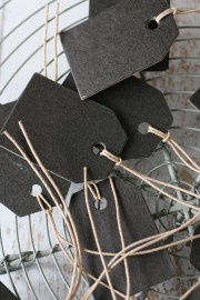 Labels naturel klein 4x6cm zwart | Labels | Label 123