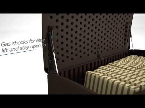 124 Gallon Extra Large Deck Box  - Extra Large Deck Boxes - Deck Boxes - Patio & Yard - Suncast® Corporation