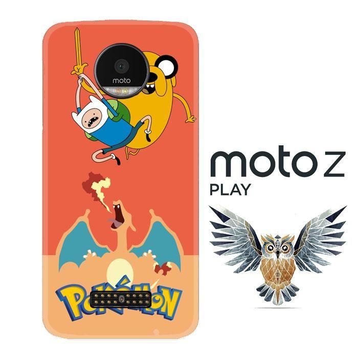Adventure Time Jake POKEMON W3008 Motorola Moto Z Play Case
