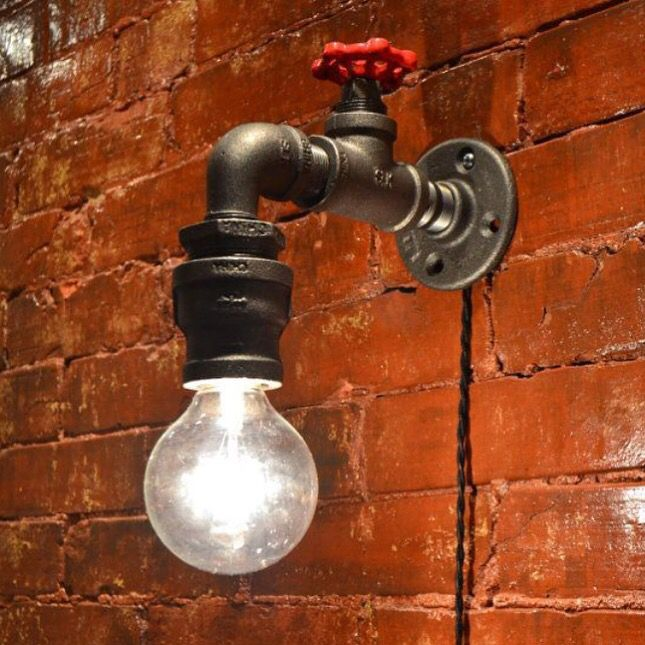 Industrial lighting steampunk faucet sconce steampunk light industrial sconce edison bulb sold separately by westninthvintage on etsy