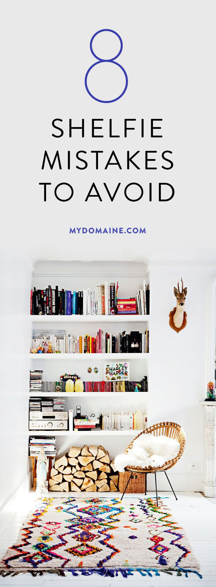 Tips for styling your shelves