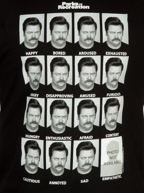 [ Emotions of Ron Swanson Shirt ] has just appeared on www.ShirtRater.com
