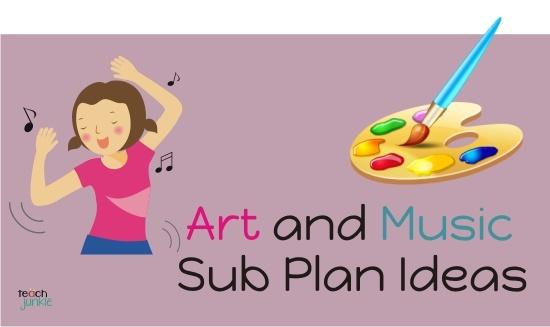 Art and Music Sub Plan Ideas - Teach Junkie  http://www.teachjunkie.com/filing-cabinet/how-to/art-and-music-sub-plan-ideas/